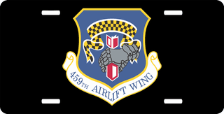U.S. Air Force 459th Airlift Wing License Plate