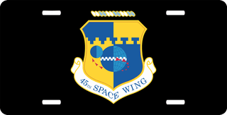 U.S. Air Force 45th Space Wing License Plate