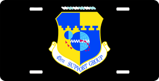 U.S. Air Force 45th Support Group License Plate