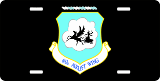 U.S. Air Force 463rd Airlift Wing License Plate