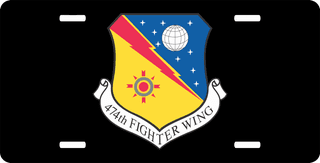 U.S. Air Force 474th Fighter Wing License Plate