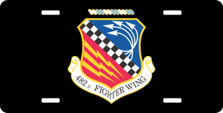U.S. Air Force 482nd Fighter Wing License Plate