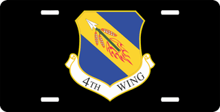 U.S. Air Force 4th Wing License Plate