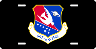 U.S. Air Force 507th Wing License Plate