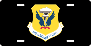 U.S. Air Force 509th Bomb Wing License Plate