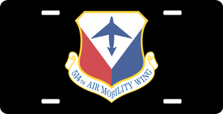U.S. Air Force 514th Air Mobility Wing License Plate