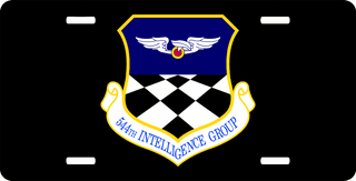 U.S. Air Force 544th Intelligence Group License Plate