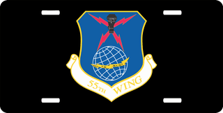 U.S. Air Force 55th Wing License Plate