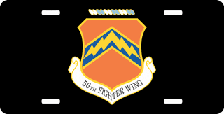 U.S. Air Force 56th Fighter Wing License Plate