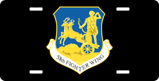 U.S. Air Force 58th Fighter Wing License Plate