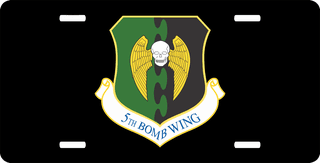 U.S. Air Force 5th Bomb Wing License Plate