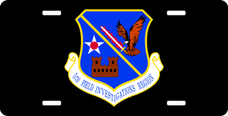 U.S. Air Force 5th Field Investigation Region License Plate