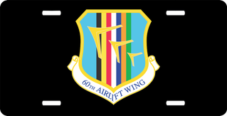 U.S. Air Force 60th Airlift Wing License Plate