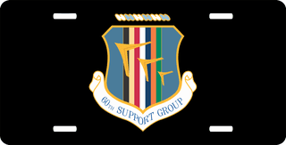 U.S. Air Force 60th Support Group License Plate