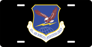 U.S. Air Force 615th Air Mobility Operations Group License Plate