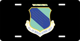 U.S. Air Force 615th Air Mobility Support Group License Plate