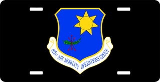 U.S. Air Force 621st Air Mobility Operations Group License Plate