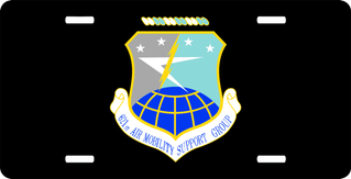 U.S. Air Force 621st Air Mobility Support Group License Plate
