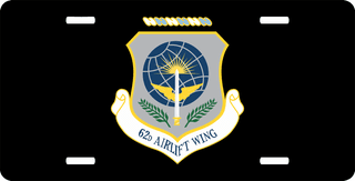 U.S. Air Force 62nd Airlift Wing License Plate