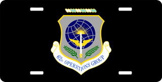 U.S. Air Force 62nd Operations Group License Plate