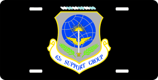 U.S. Air Force 62nd Support Group License Plate