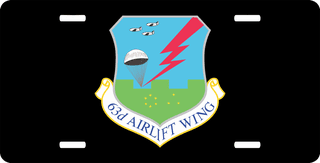 U.S. Air Force 63rd Airlift Wing License Plate