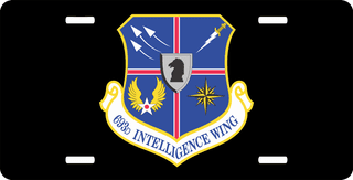 U.S. Air Force 693rd Intelligence Wing License Plate