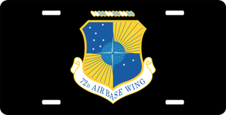 U.S. Air Force 72nd Air Base Wing License Plate