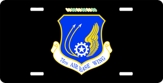 U.S. Air Force 75th Air Base Wing License Plate