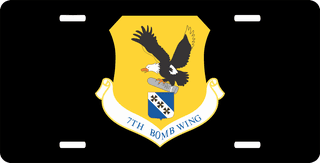 U.S. Air Force 7th Bomb Wing License Plate