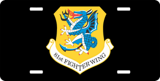 U.S. Air Force 81st Fighter Wing License Plate