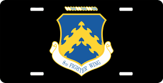 U.S. Air Force 8th Fighter Wing License Plate