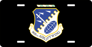 U.S. Air Force 908th Airlift Wing License Plate