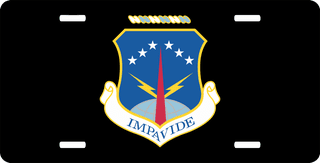 U.S. Air Force 90th Missile Wing License Plate