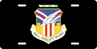 U.S. Air Force 910th Airlift Wing License Plate