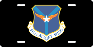 U.S. Air Force 911th Airlift Wing License Plate