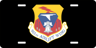 U.S. Air Force 913th Airlift Wing License Plate