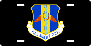 U.S. Air Force 914th Airlift Wing License Plate