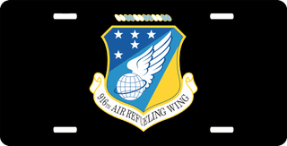 U.S. Air Force 916th Air Refueling Wing License Plate