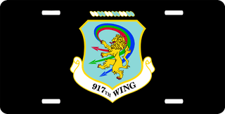U.S. Air Force 917th Wing License Plate