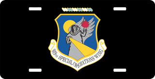 U.S. Air Force 919th Special Operations Wing License Plate