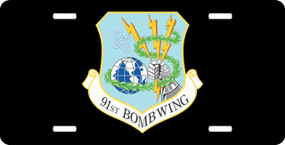 U.S. Air Force 91st Bomb Wing License Plate