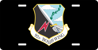 U.S. Air Force 92nd Bomb Wing License Plate