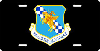 U.S. Air Force 931st Air Refueling Group License Plate