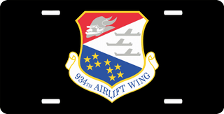 U.S. Air Force 934th Airlift Wing License Plate