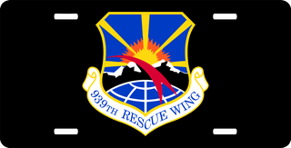 U.S. Air Force 939th Rescue Wing License Plate