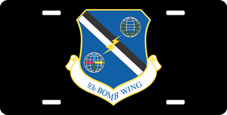 U.S. Air Force 93rd Bomb Wing License Plate