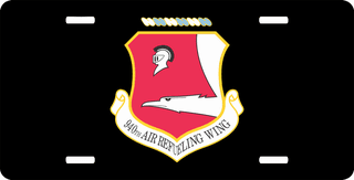 U.S. Air Force 940th Air Refueling Wing License Plate