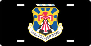 U.S. Air Force 944th Fighter Wing License Plate