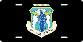 U.S. Air Force 94th Airlift Wing License Plate